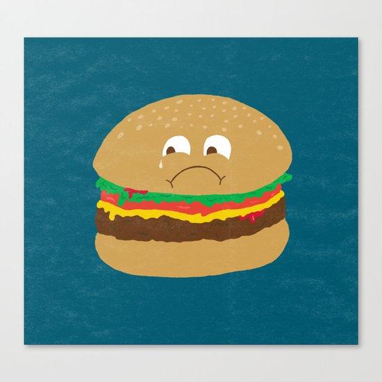 Sad Hamburger Canvas Print