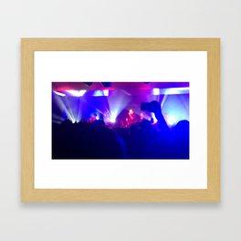in the haze of sound Framed Art Print