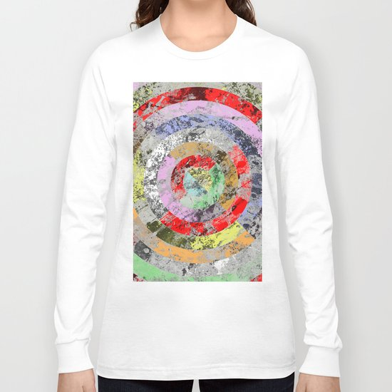 Textured Bullseye - Abstract, marble, pastel colours Long Sleeve T-shirt