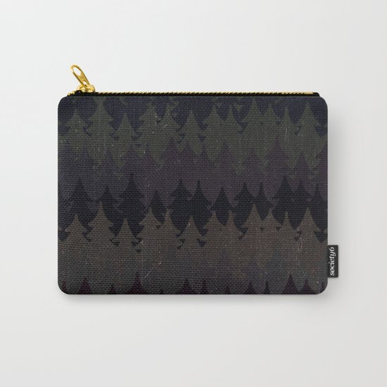 The secret forest at night - Abstract dark tree pattern Carry-All Pouch