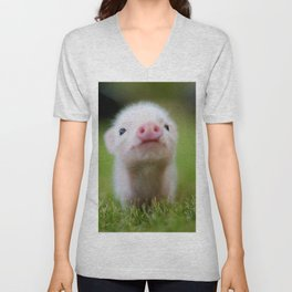 Little Pig Unisex V-Neck