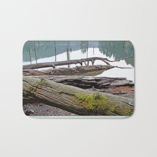 FALLEN TREES ALONG MOUNTAIN LAKE TRAIL Bath Mat