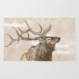 Misty Morning Elk Rug