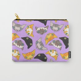 """""""Oro?"""" Cats-Lavender Carry-All Pouch"""
