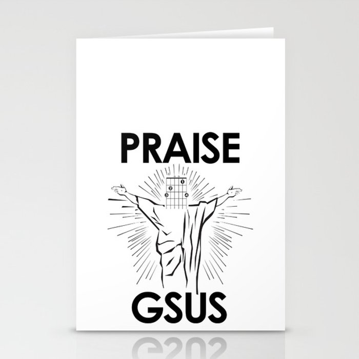 Praise G Sus Guitar Chord Stationery Cards By Wilddelilah Society6
