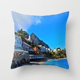Capri, Italy Amalfi Coast Throw Pillow