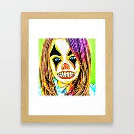 Psycho Clown Framed Art Print