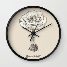 Blossoms of Civilizations Wall Clock