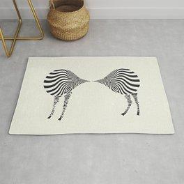zebra mating Rug