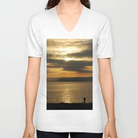 photographer V-neck T-shirts featuring Photographer by itsthezoe