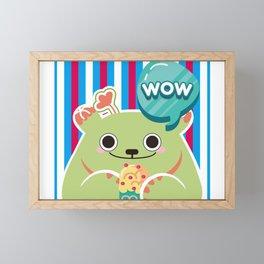 Ice Cream Cactus Ball Framed Mini Art Print