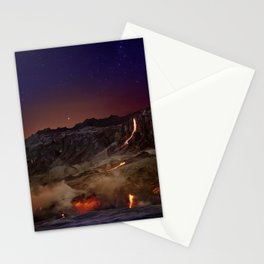 Kilauea Volcano Lava Flow. 6 Stationery Cards