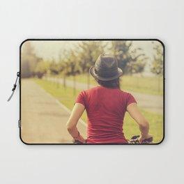 Girl and bike Laptop Sleeve