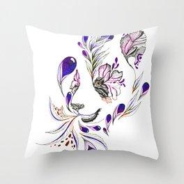 Hidden panda Throw Pillow