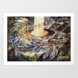 Escape Mixed Art Print