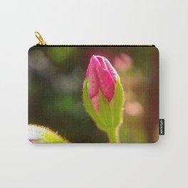 Pink Geranium Flower Bud Carry-All Pouch
