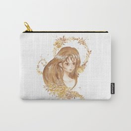 Golden Flora Carry-All Pouch