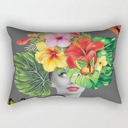 woman floral Rectangular Pillow