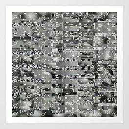Knowing Wink (P/D3 Glitch Collage Studies) Art Print