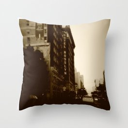 ^Hotel Rosslyn Throw Pillow