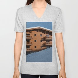 Mountain chalet, holiday home Unisex V-Neck