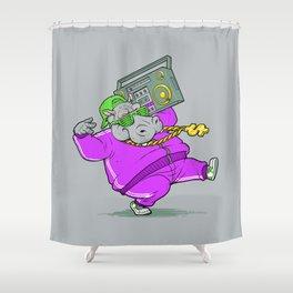 Hip Hop Hippo Shower Curtain