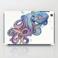 decorative iPad Cases featuring octopus  by Laura Graves