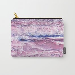Plum marble abstract Carry-All Pouch