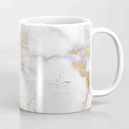 Blush chic faux gold gray gradient marble Coffee Mug