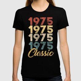 Vintage Retro Born In 1975 44th Birthday Gift T-shirt
