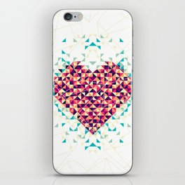 A heart is made of bits and pieces iPhone Skin