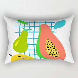 Tropical Fruits Rectangular Pillow