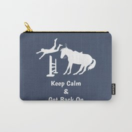 Keep Calm & Get Back On The Horse White Carry-All Pouch