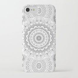 MOONCHILD MANDALA BLACK AND WHITE iPhone Case