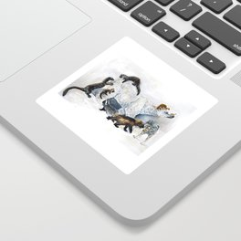 Awesome mustelids Sticker