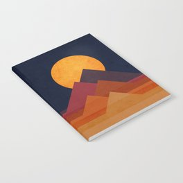 Full moon and pyramid Notebook