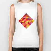 scales Biker Tanks featuring Red Scales by Lea.I