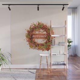 Festive Autumn Wreath Wall Mural