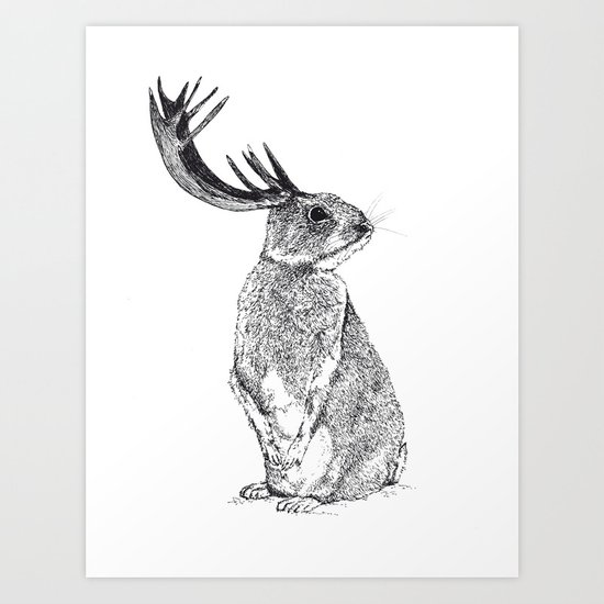 Lapin-Cerf Art Print