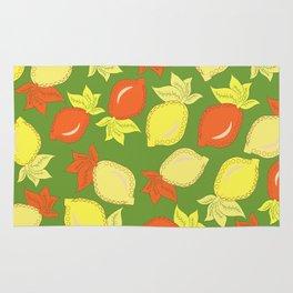 Tumbled Lemons Pattern Rug
