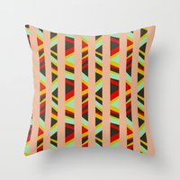tribal Throw Pillows featuring tribal by sylvie demers