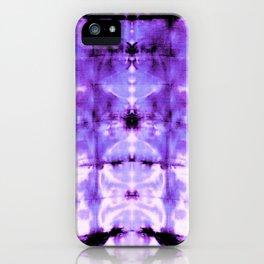 Violet Shibori Satin iPhone Case