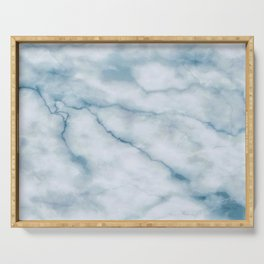Light blue marble texture Serving Tray