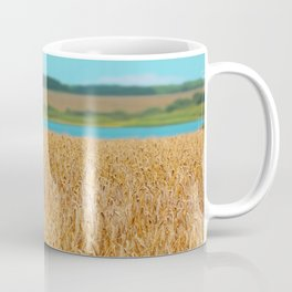 Golden Corn by the Turquoise Water Coffee Mug