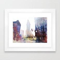 New York - Taxis Framed Art Print