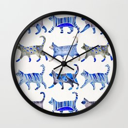 Cat Collection – Blue Palette Wall Clock