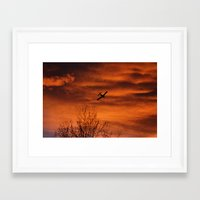 plane Framed Art Prints featuring Plane by Fox Industries