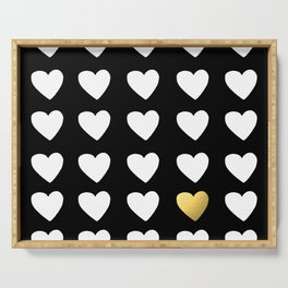 Golden Heart Serving Tray