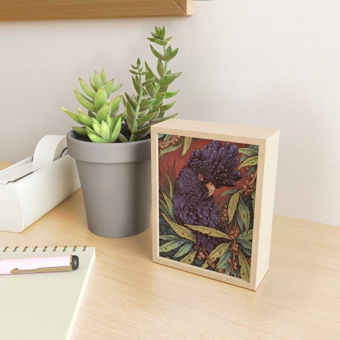 Black Cockatoo Framed Mini Art Print