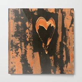 Liquid Copper Gothic Heart | Corbin Henry Metal Print